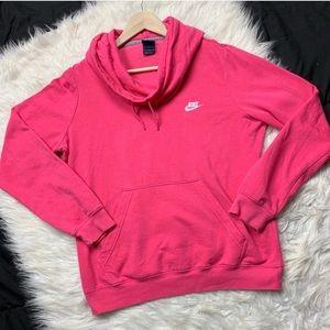 NIKE pink cowl neck sweatshirt